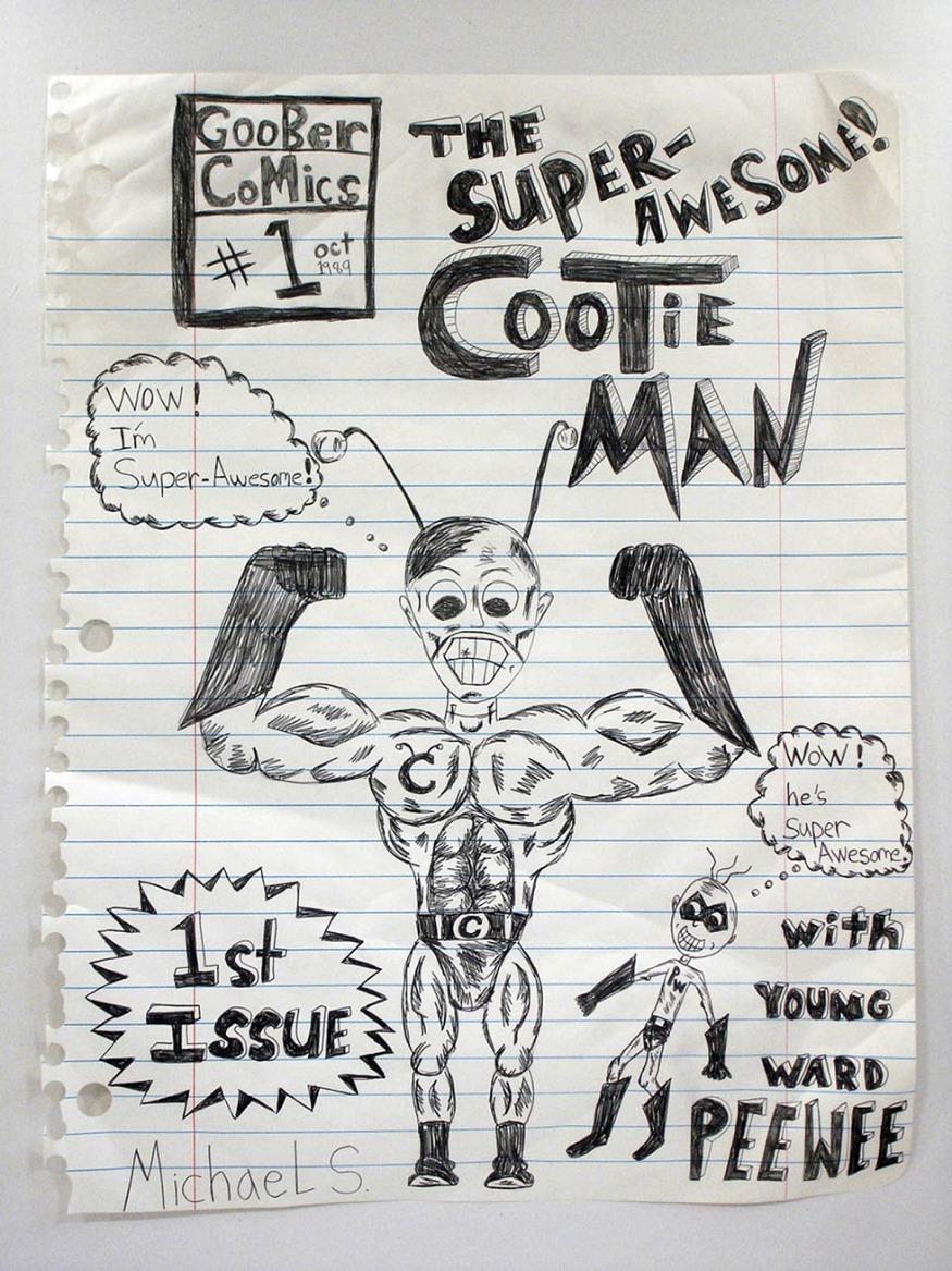우리시대 모든 어린이들을 위해_마이클스코긴스_The Super Awsome Cootie Mans_190x150cm_종이 위에 색연필,그래피티, 마커_2007.jpg